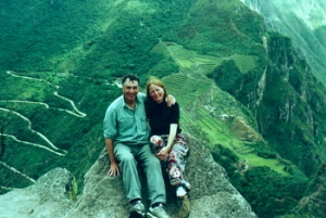 Taken in 2000, atop Huani Picchu at Macchu Picchu